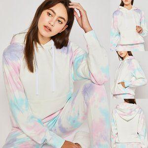 NEW Soft Fleece Tie Dye Hoodie Pullover Sweatshirt
